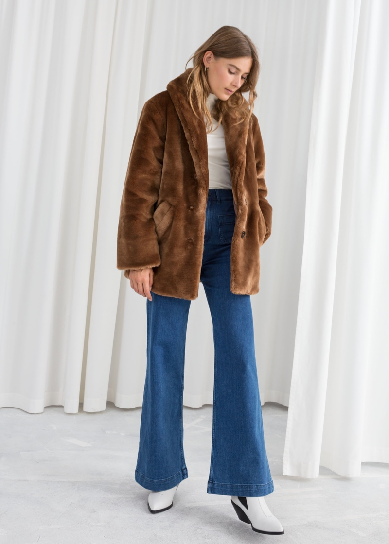 & Other Stories Short Faux Fur Coat $149