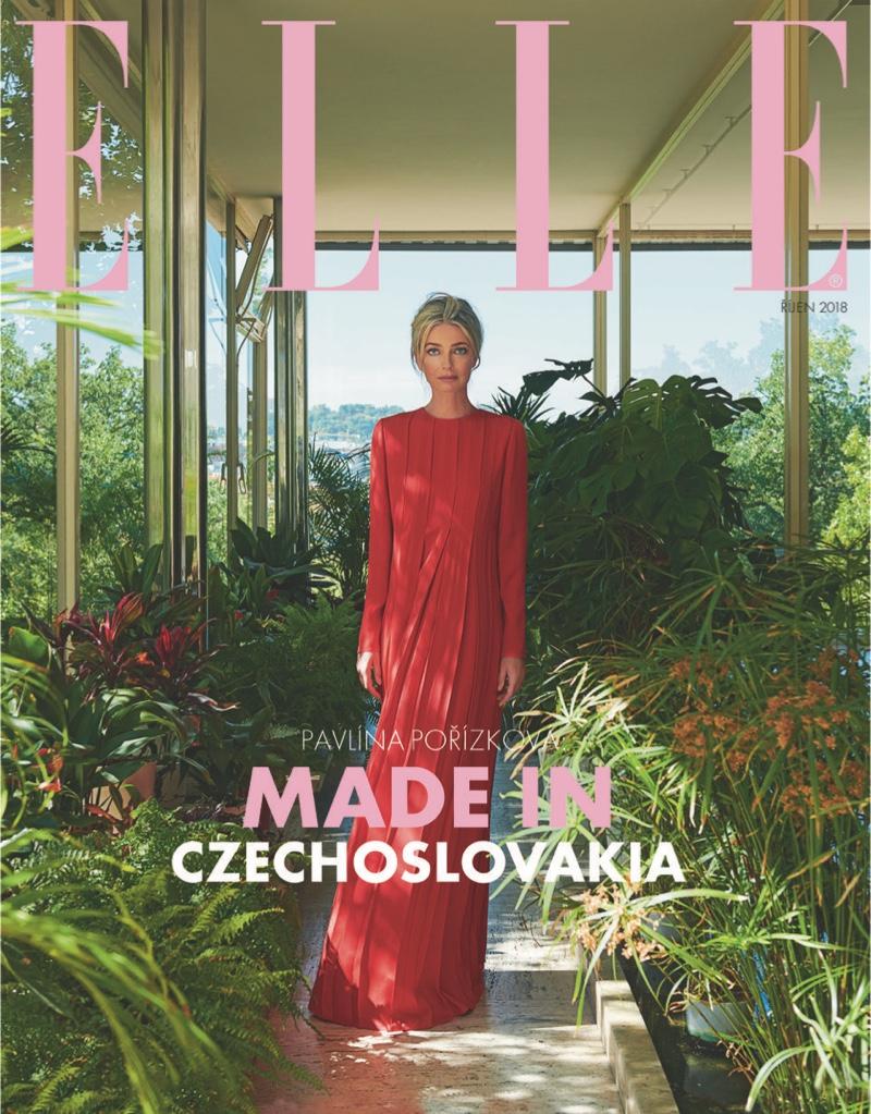 Paulina Porizkova Poses in Chic Looks for ELLE Czech