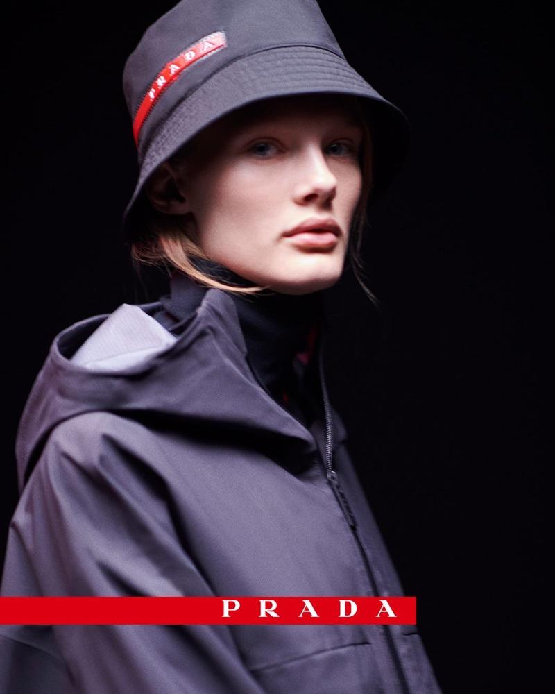 Kris Grikaite stars in Prada Linea Rossa campaign