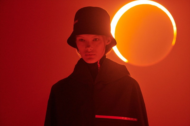 b7940e2ff63bd ... An image from the Prada Linea Rossa campaign An image from the Prada  Linea Rossa campaign Prada spotlights the bucket hat for its ...