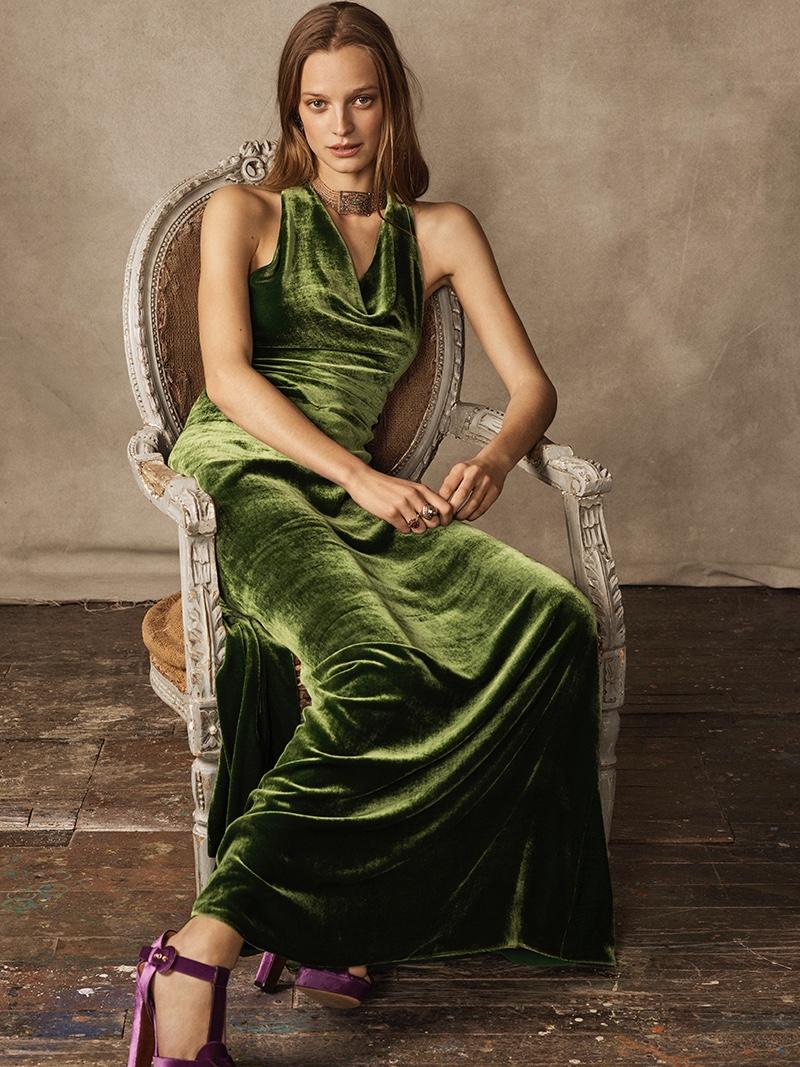 Ralph Lauren Collection Perla Velvet Dress