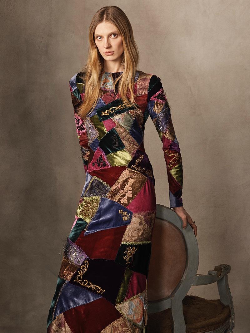 Ralph Lauren Collection Hamlin Patchwork Dress