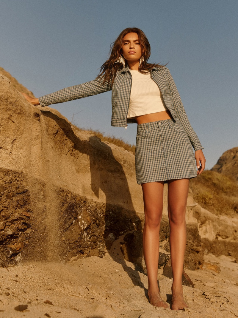 Reformation Cher Jacket $148 and Cher Skirt $98