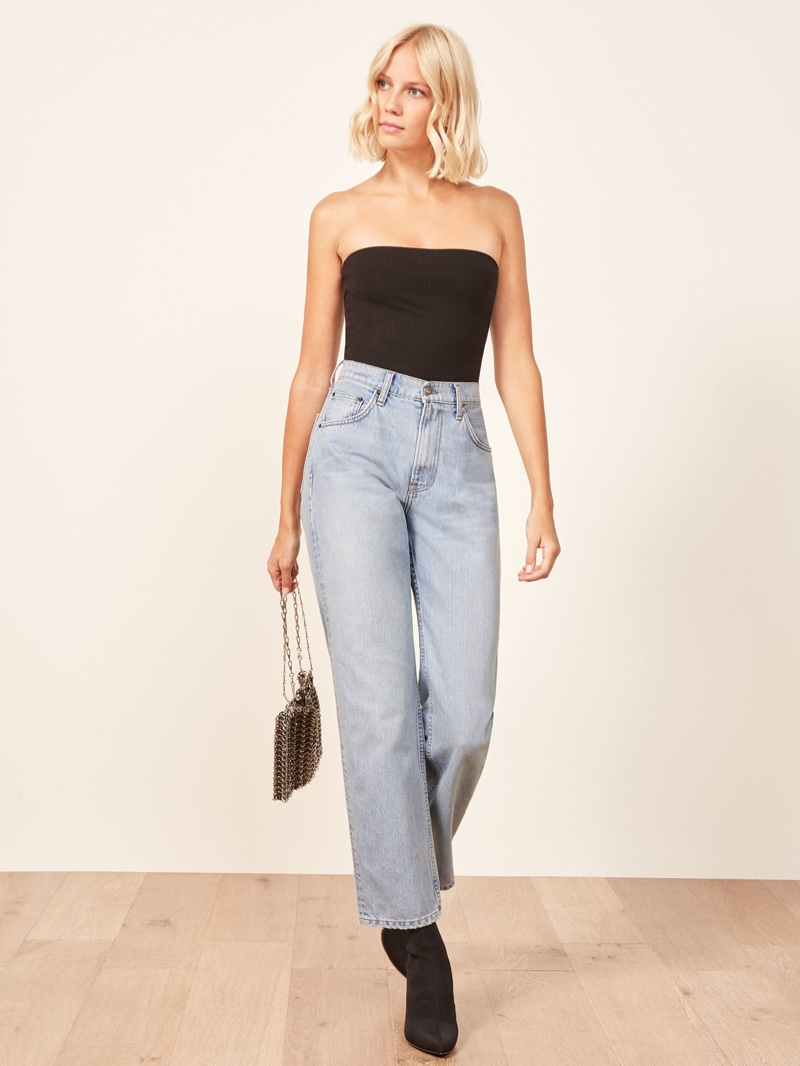 Reformation Dawson Relaxed Jean in Skye $128