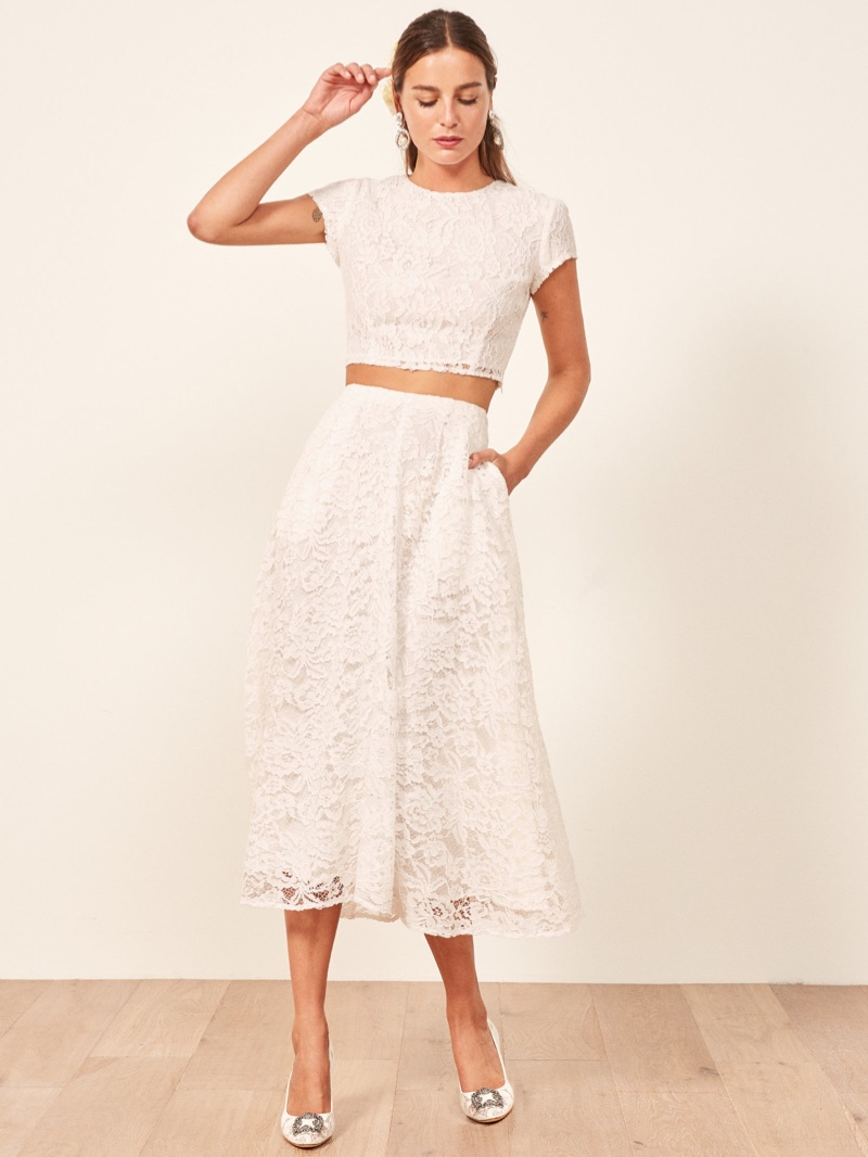 Reformation Harp Two Piece in Ivory $488