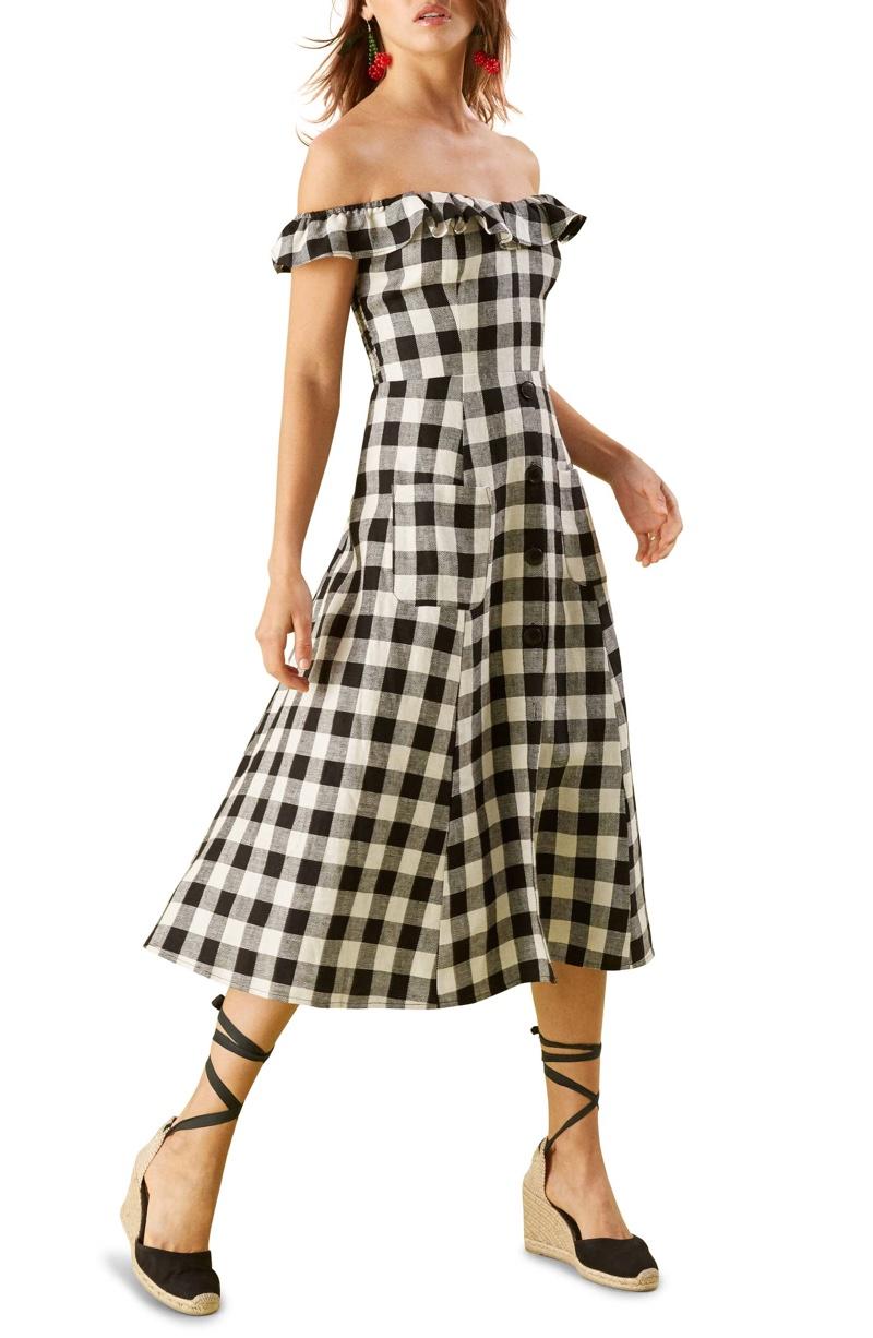 Reformation Hattie Off the Shoulder Linen Dress $87.00 (previously $198.00)