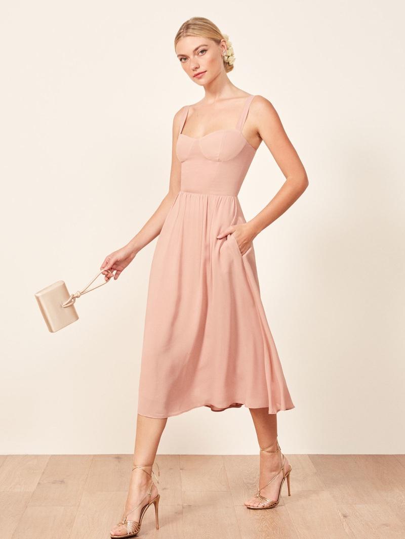 Reformation Hera Dress in Blush $278
