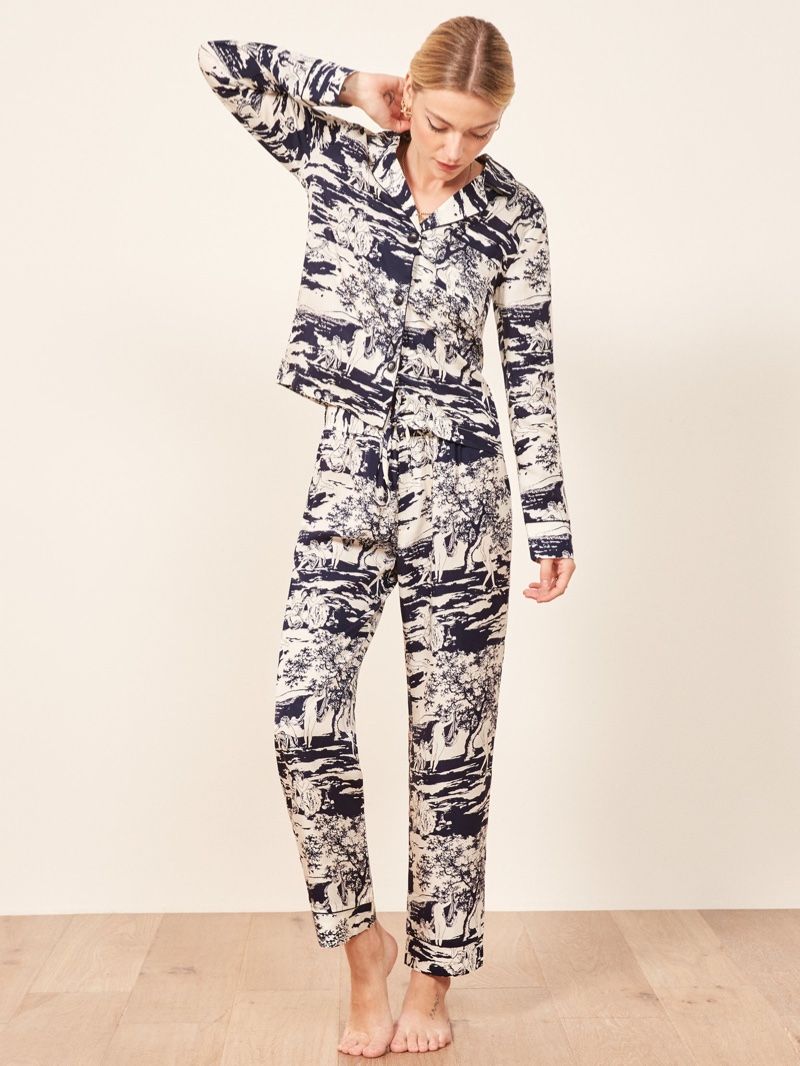 Reformation Pajama Set in Naked Lunch $98