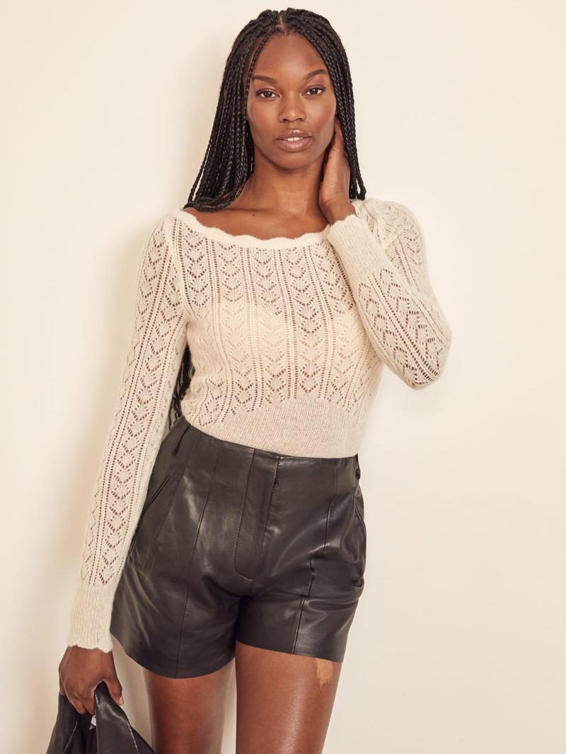 Reformation Seine Pointelle Sweater $198
