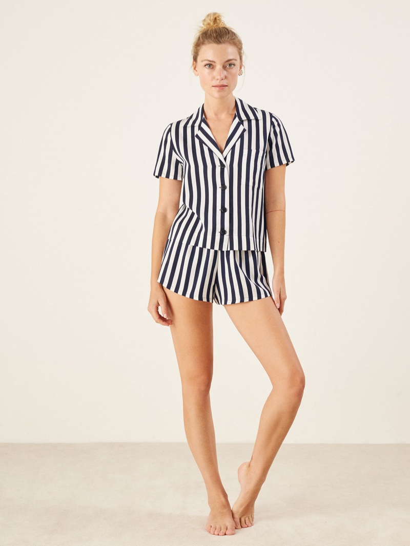 Reformation Short Pajama Set in Genoa $88