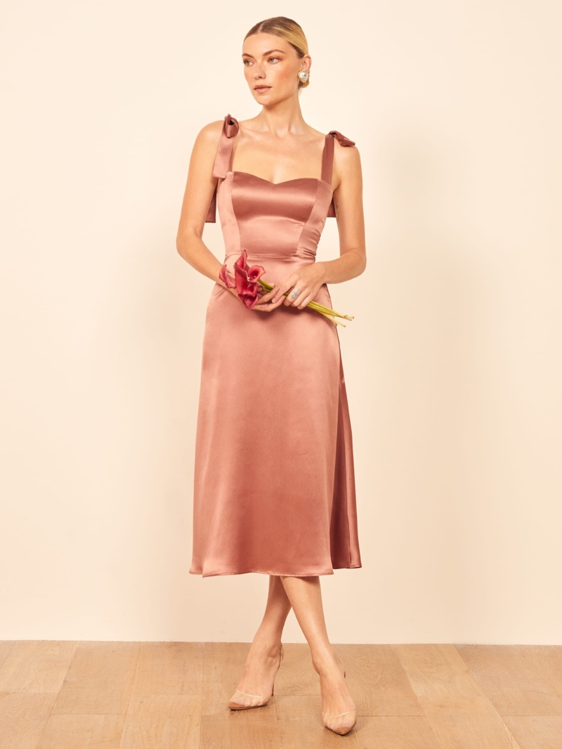 Reformation Tuileries Dress in Praline $348
