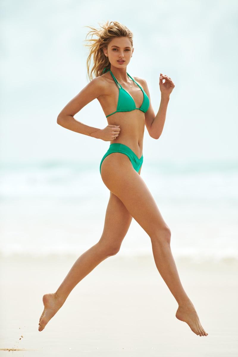 Rocking a green bikini, Romee Strijd fronts Seafolly fall 2018 campaign