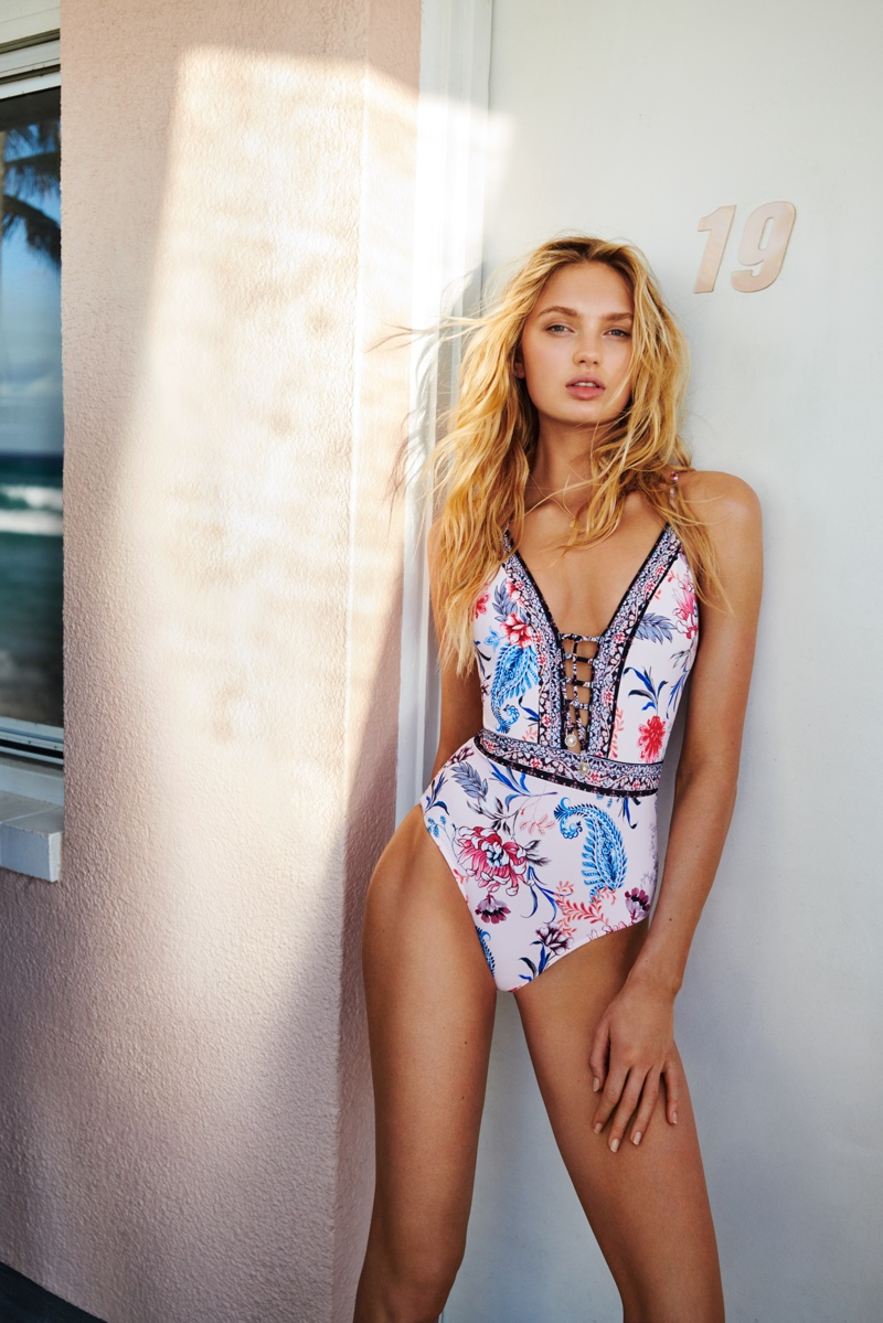 Romee Strijd Soaks Up the Sun in Seafolly Fall '18 Campaign