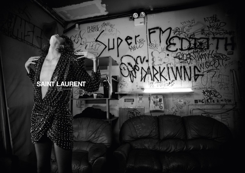 An image from the Saint Laurent fall-winter 2018 campaign