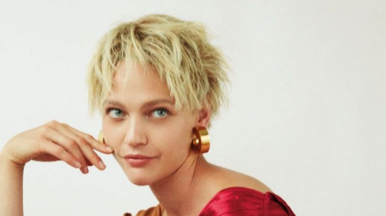 Sasha Pivovarova Sports Short Hair for Vogue Thailand