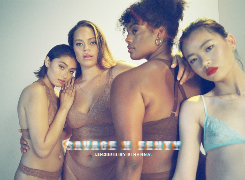 Hunter & Gatti photograph Savage x Fenty Lingerie by Rihanna campaign