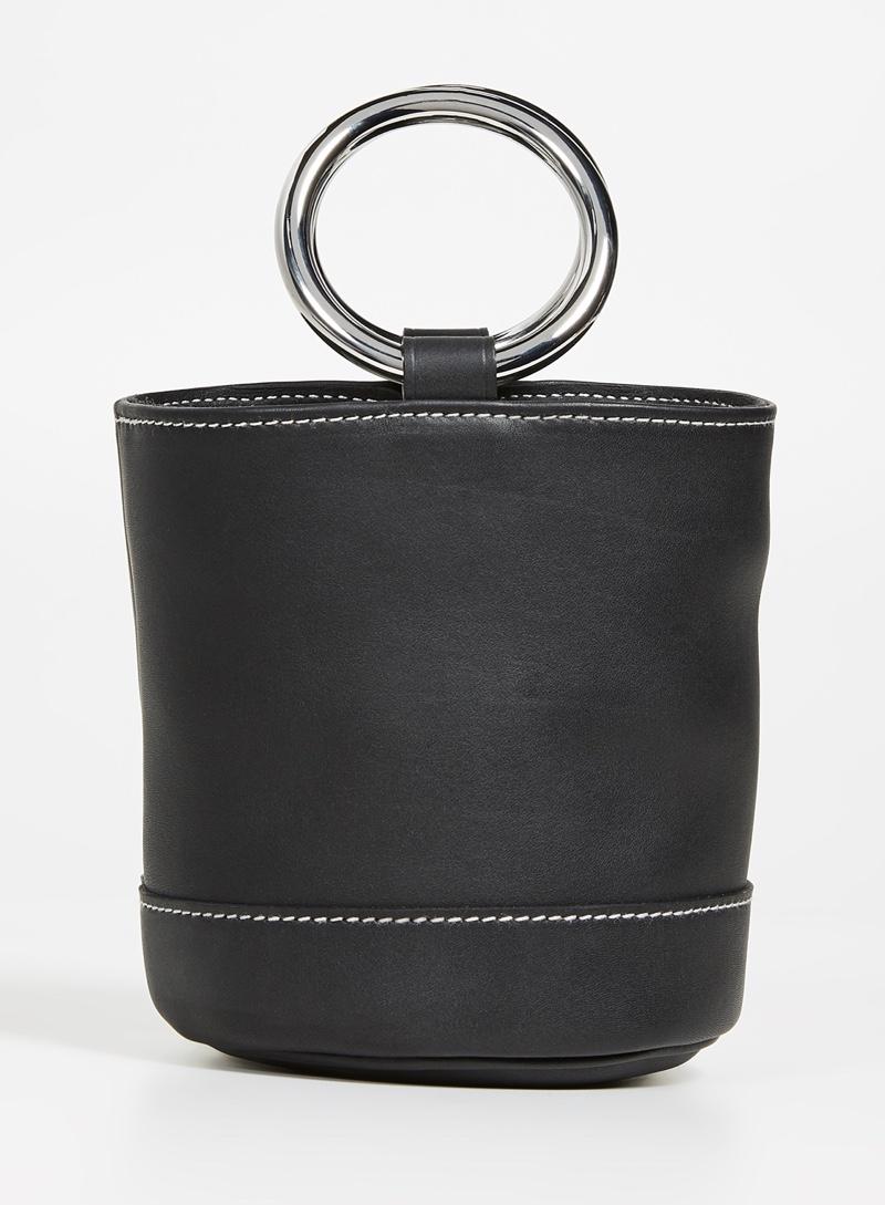 Simon Miller Bonsai Mini Bucket Bag in Black $390