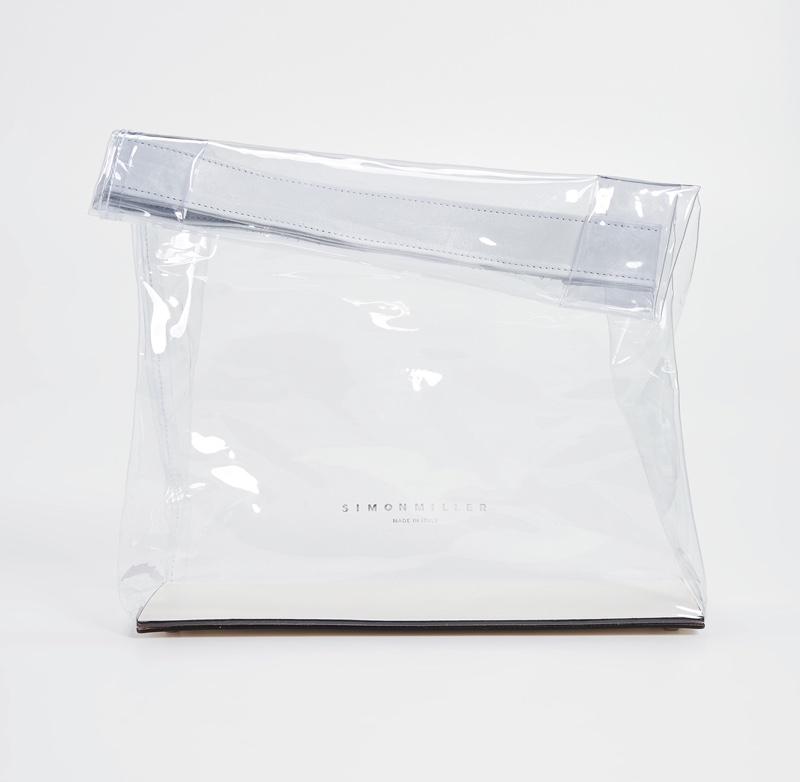 Simon Miller Lunchbag in Clear/White $290