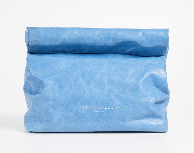 Simon Miller XL Lunch Bag in Blue Paradise $485