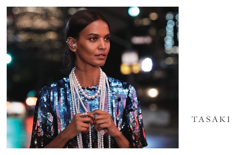 Liya Kebede fronts Tasaki Jewelry 2018 campaign