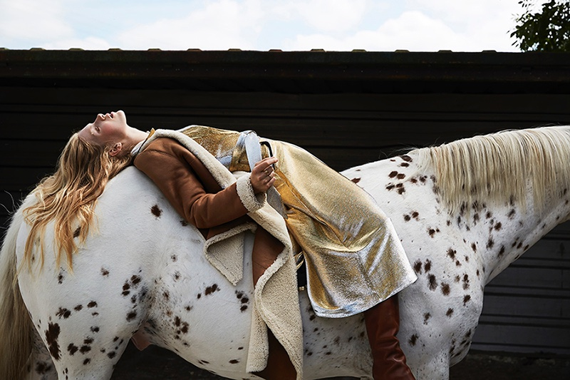Tes Linnenkoper Wears Equestrian Style in Marie Claire Netherlands