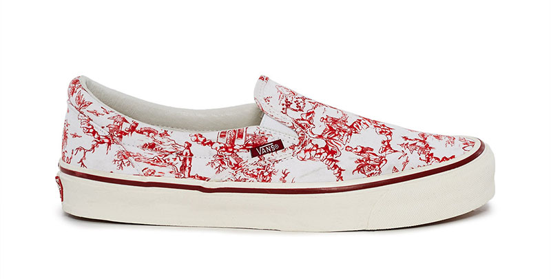 5e27cfc48a6f Vans x Opening Ceremony Chinoiserie OG Classic Slip-On LX Sneaker in Red  75