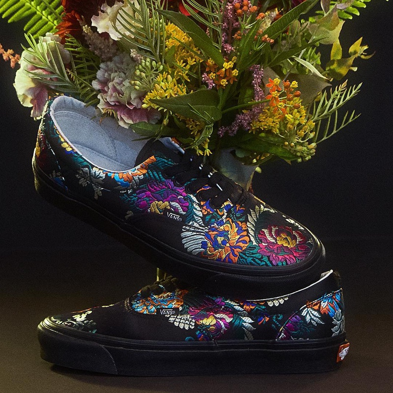 Opening Ceremony X Vans Floral Satin Sneakers Shop Fashion