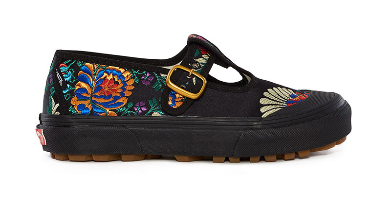Vans x Opening Ceremony Satin Floral Style 93 Sneaker in Black $85