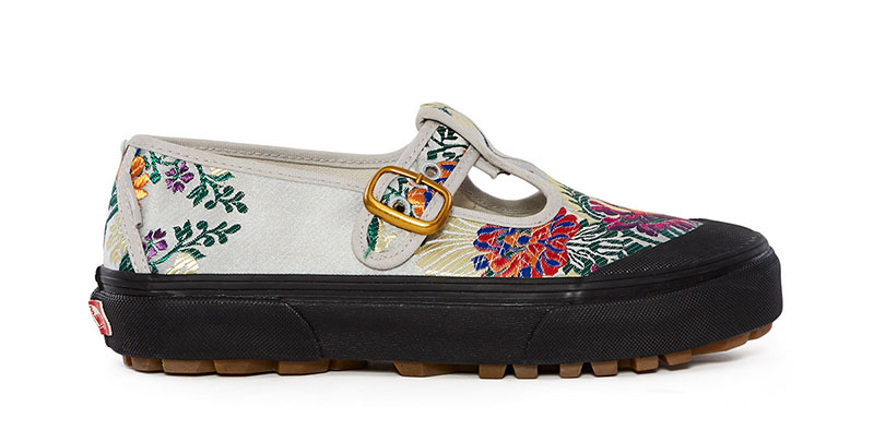 Vans x Opening Ceremony Satin Floral Style 93 Sneaker in Grey $85