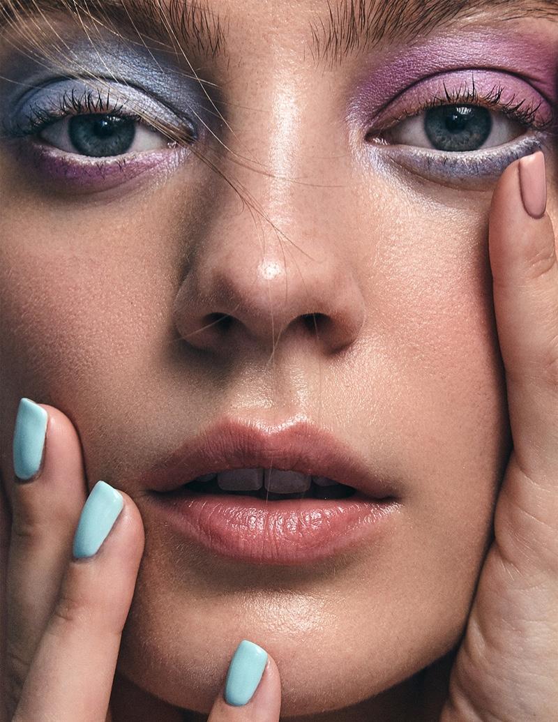 Veranika Antsipava Wears Shimmering Beauty for Marie Claire Ukraine