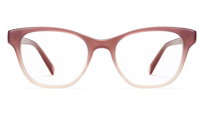 Warby Parker Amelia Glasses in Rose Clay Fade $95