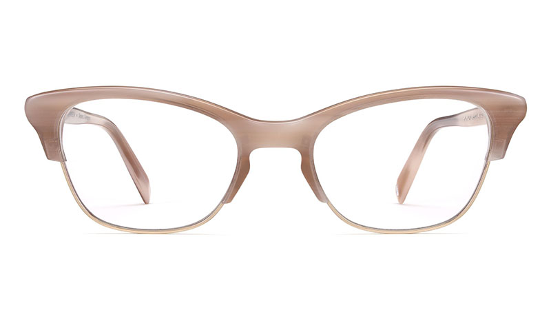 Warby Parker x Anna Akana Holcomb Glasses in Pale Rose Horn $145