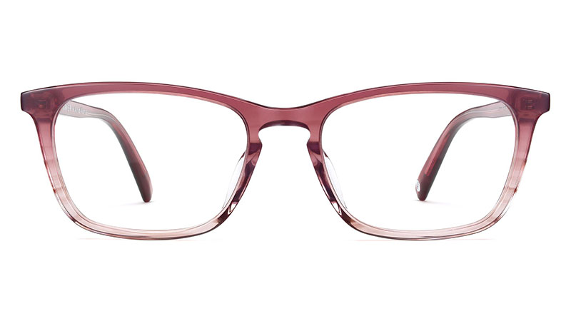 Warby Parker x Anna Akana Welty Glasses in Rosefinch Fade (Low Bridge) $95