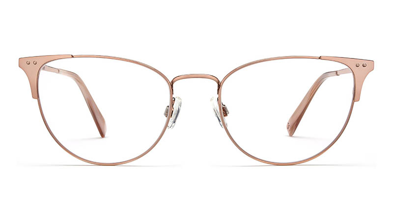 Warby Parker Ava Glasses in Rose Gold $145