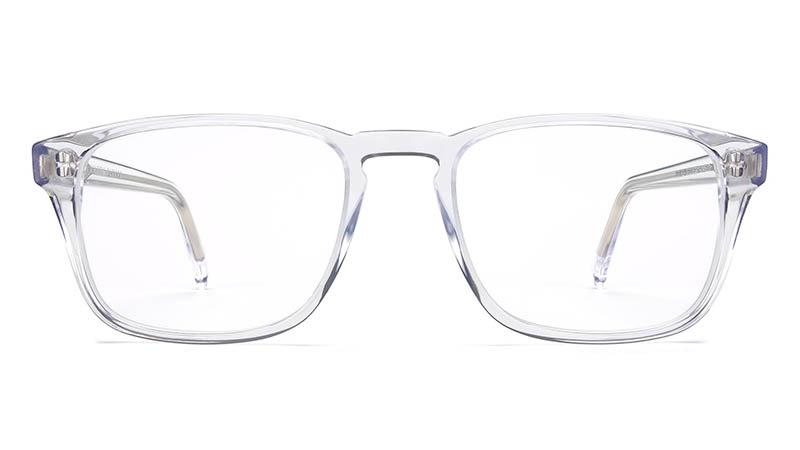 Warby Parker Bensen Glasses in Crystal $95