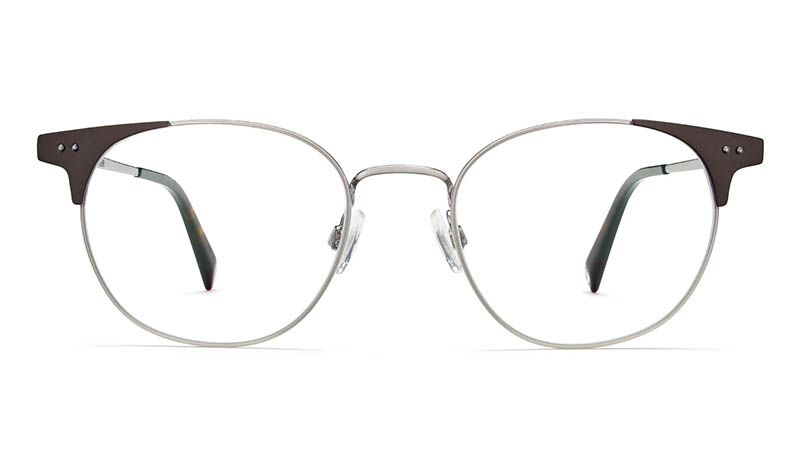 Warby Parker Cameron Glasses in Antique Silver with Carbon $145