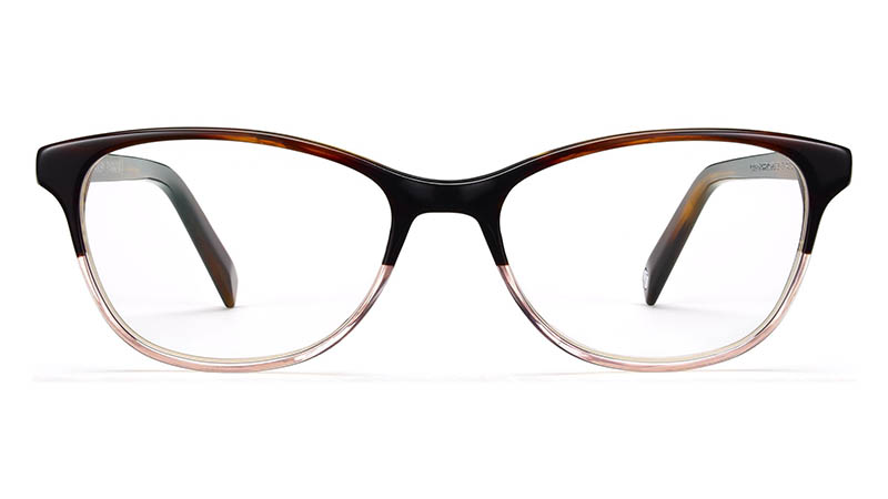 Warby Parker Daisy Narrow Glasses in Tea Rose Fade $95