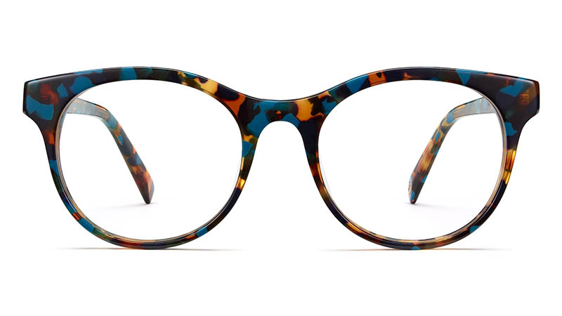 Warby Parker Remy Glasses in Teal Tortoise $95