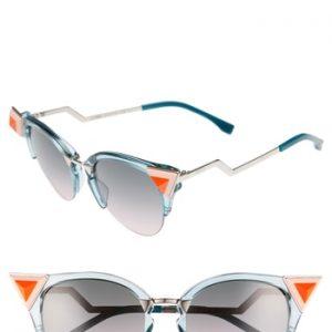Women's Fendi 52Mm Cat Eye Sunglasses -