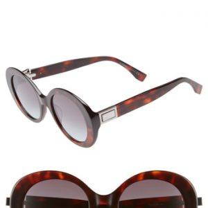 Women's Fendi 52Mm Round Sunglasses -