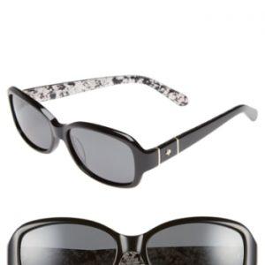 6f00883f11 Women s Kate Spade New York Cheyenne 55Mm Polarized Sunglasses – Black  Grey  Polar