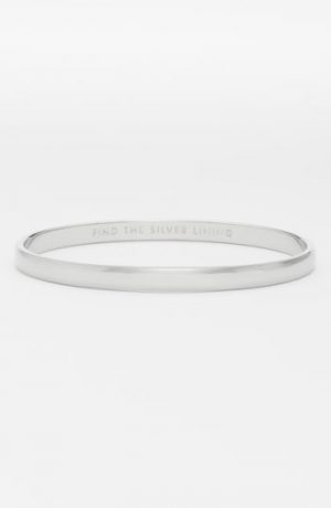 Women's Kate Spade New York 'Idiom - Find The Silver Lining' Bangle