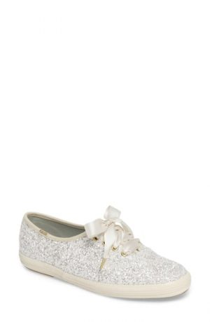 Women's Keds For Kate Spade New York Glitter Sneaker, Size 5 M - Beige
