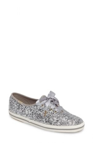 Women's Keds For Kate Spade New York Glitter Sneaker, Size 5 M - Metallic
