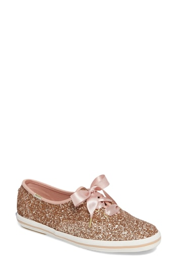 Women's Keds For Kate Spade New York Glitter Sneaker, Size 5.5 M - Metallic