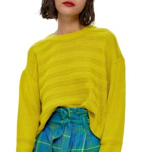 Women's Topshop Ottoman Crop Sweater, Size 6 US (fits like 2-4) - Green