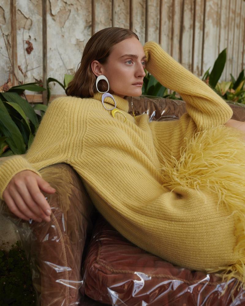 Adel Yudina Models Elegant Fall Fashions for Gala Germany