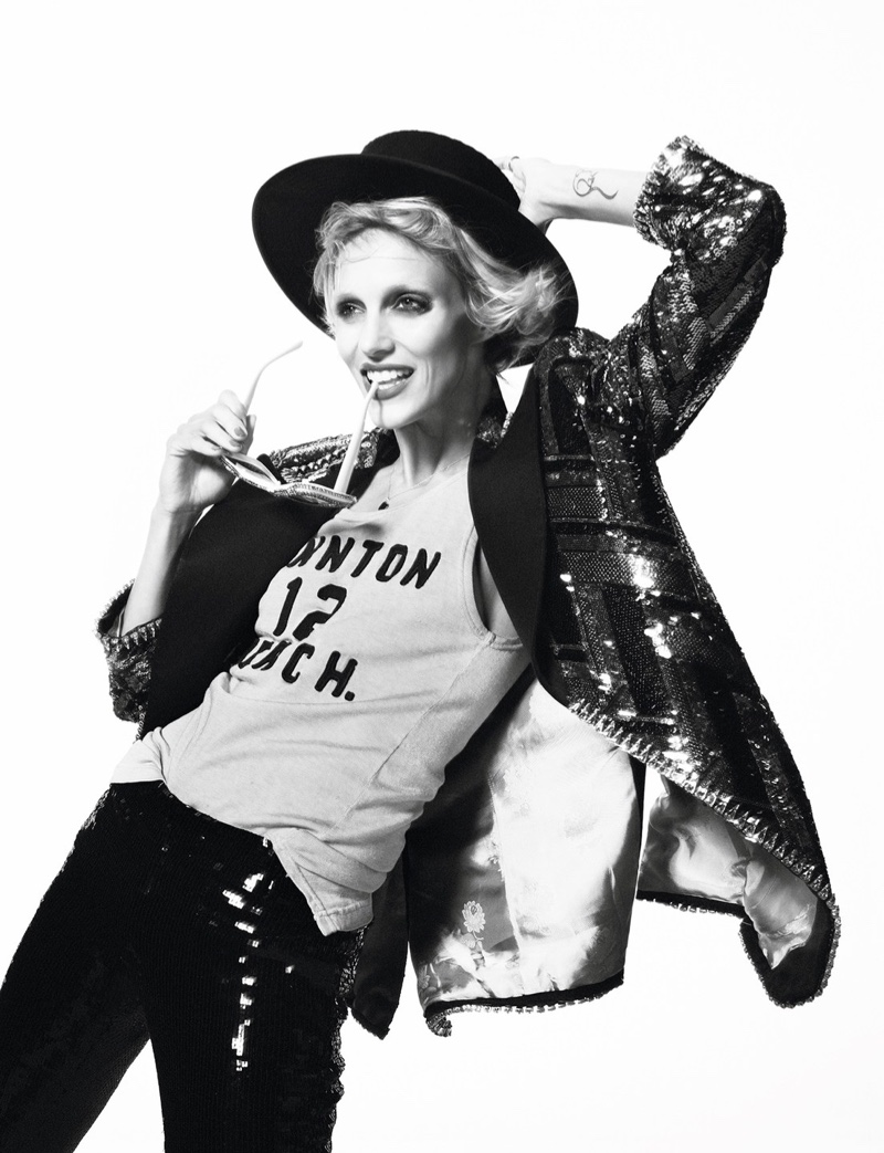 Anja Rubik Turns Up the Shine Factor for Vogue Paris
