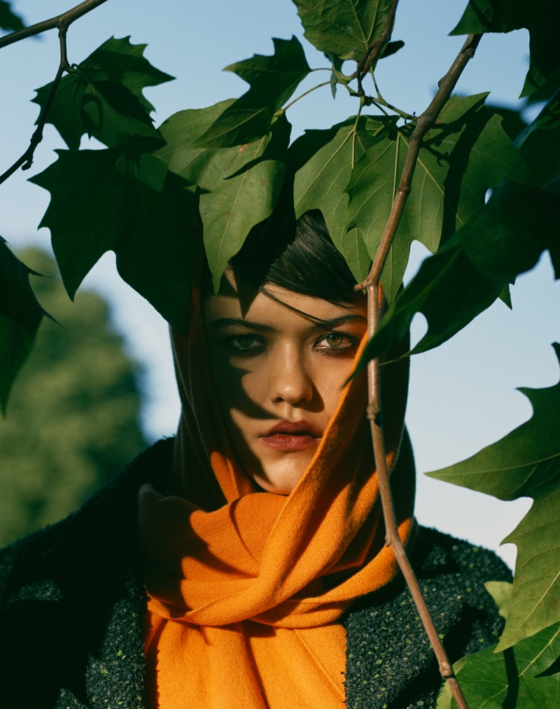 Anna Nevala Poses in Autumn Fashions for Vogue Taiwan