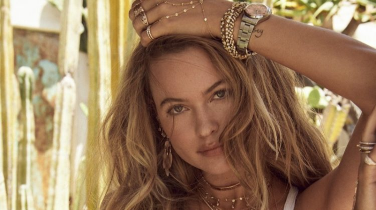 Behati Prinsloo Charms in Jacquie Aiche Jewelry Fall '18 Campaign